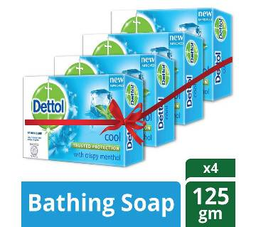 Dettol Soap Cool 125gm Quad Pack Combo (125gm X 4)