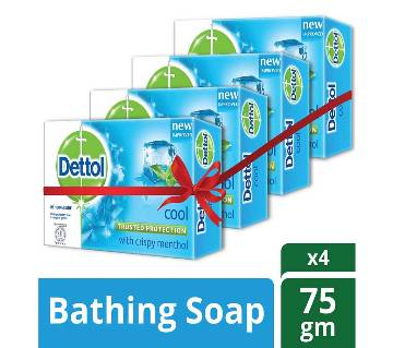 Dettol Soap Cool 75gm Quad Pack Combo (75gm X 4)