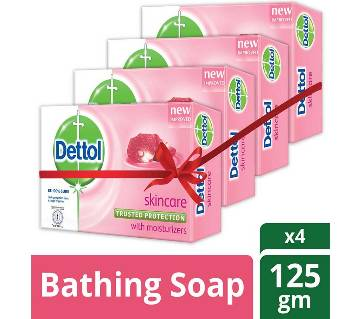 Dettol Soap Skincare 125gm Quad Pack Combo (125gm X 4)