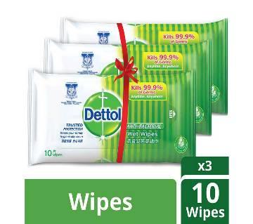 Dettol Antibacterial Wet Wipes 3 Pack Combo