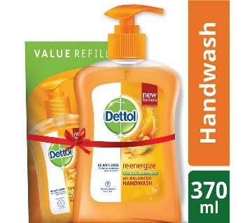 Dettol Handwash Re-energize 200ml Pump and 170ml Refill Combo