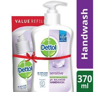 Dettol Handwash Sensitive 200ml Pump and 170ml Refill Combo