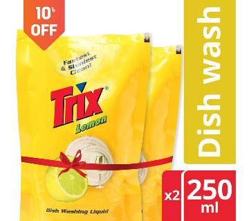 Trix Dishwashing Liquid 250 ml Double Pack
