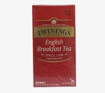 Twinings (ইংরেজি ব্রেকফাস্ট চা) - 25bags