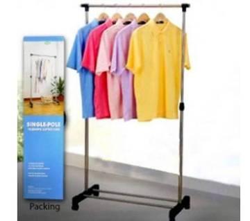 Single-Pole Telescopic Clothes Hanger - Silver