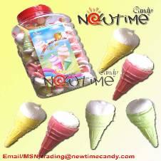 Ice Cream Marshmallow Candy 130 pcs jar