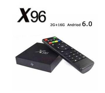 X96 4K অ্যান্ড্রয়েড স্মার্ট TV বক্স 2GB 16GB