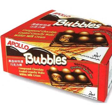Bubbles চকোলেট ওয়্যেফার বার -24pc