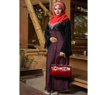 Black In Red Burqa