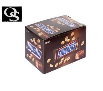 Snickers চকোলেট- ২৪ পিসের প্যাক