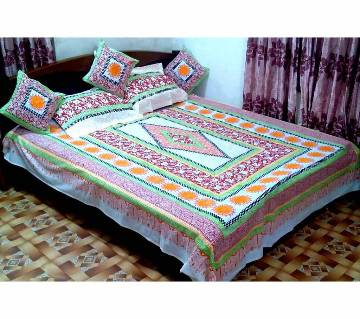 Block Printed Bed Cover Set (6 pcs)