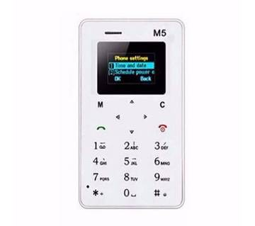 AlEK M5 Mini Card Mobile Phone