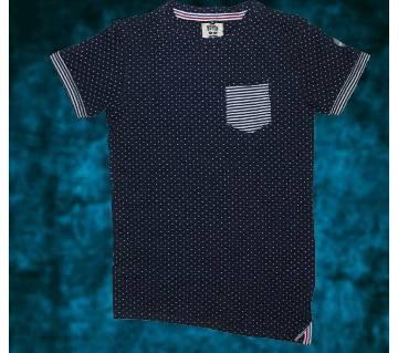 BOYSH Angle Pattern Double Layer Cotton T-shirt