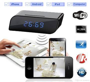 FLEX 1080P Wi-Fi হিডেন টেবিল ক্লক ক্যামেরা