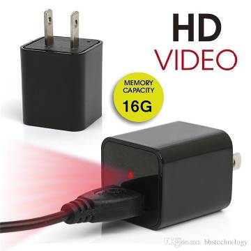 Spy Hidden charger camera 16gb memory
