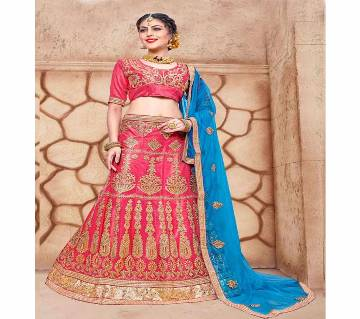 Readymade Net Embroidery A - Line Lehenga Choli With Dupatta
