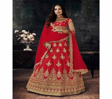 Unstitched Maryam - Silk Embroidery Lehenga Choli With Dupatta
