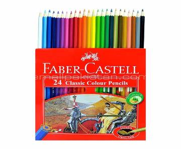 FABER CASTELL Classic Color Long Pencil-24 pcs