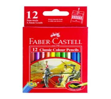 FABER CASTELL Classic Color Short Pencil-12 pcs