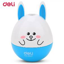 Deli No. 0521 Mini Friend Pencil Sharpener - Sky Blue - 1Pc