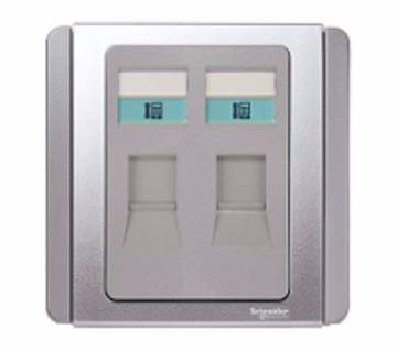 2 Gang RJ11 4 Pin Telephone Outlet
