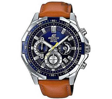 Leather Chronograph Watch