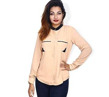 Moccasin China Georgette Shirt