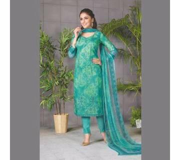 Rakhi Fashion আনস্টিচ লেস কটন ড্রেস