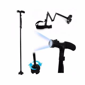 Folding Walking Stick with LED Light