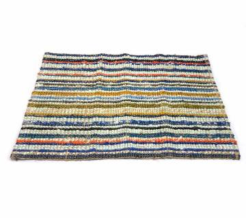 JUTE FLOOR CARPET RUG 90 x 58 cm.