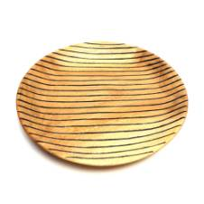 Wooden Black Strips on Round Plate_M