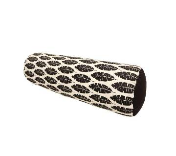 Black Bolster Pillow With Cover_20x21 Inch