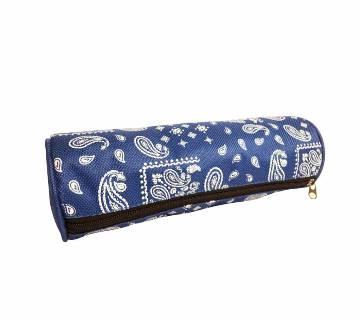 Round Blue Pencil Case,Pen Bag - 33168