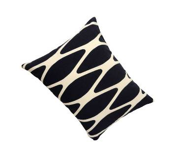 Navy Blue Cotton Cushion Cover with Pillow _ 9x12 Inch