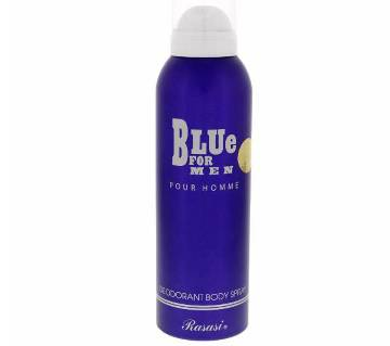 Rasasi Blue For Men Deodorant Body Spray 200 ml