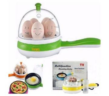 Electric egg boiler with frying pan