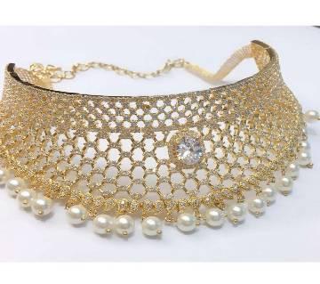 Indian Diamond Cut Necklace Set