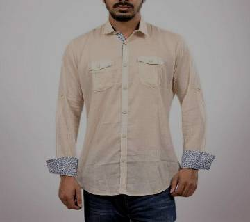 XIAZ Gents Full Sleeve Casual Cotton Shirt