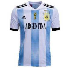 World Cup 2018 Argentina Half Sleeve Home Jersey