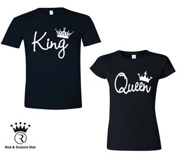 Valentine King Queen Couple T-Shirt
