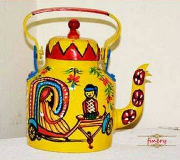 rickshaw painted kettle