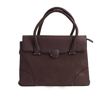 Dark Chocolate PU Leather Shoulder Bag For Women