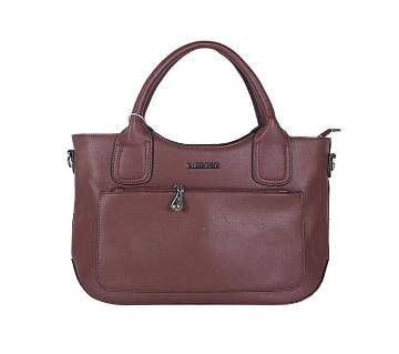 Brown Artificial Leather Shoulder Bag For Women