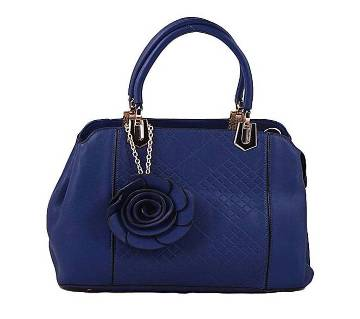 Navy Blue PU Leather Hand Bag For Women
