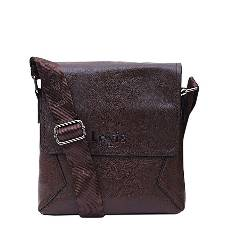 PU Leather Messenger ব্যাগ ফর মেন - Deep Chocolate