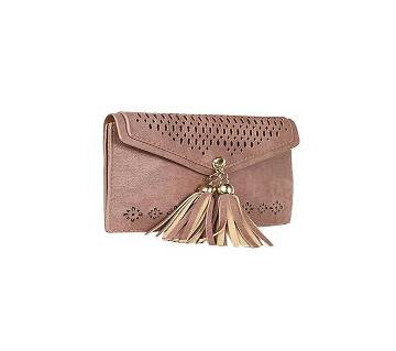 Light Pink Aritficial Leather Side Bag For Women