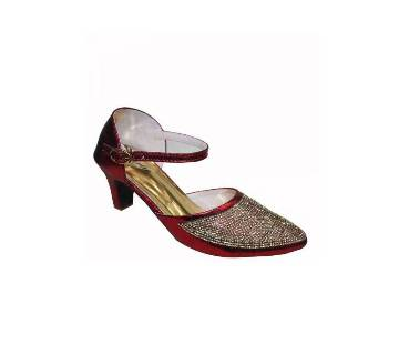 Meroon Girlie Nagra Semi-pencil Heel