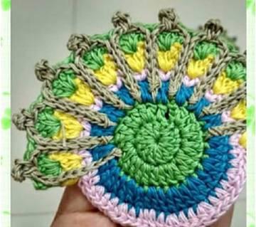 Crochet গ্লাস ম্যাট