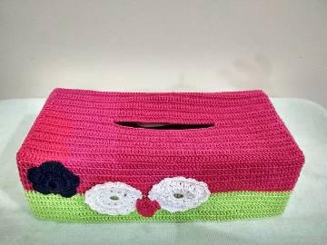 Crochet টিস্যু বক্স কভার