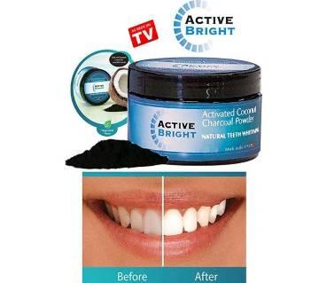 Active Bright Charcoal teeth whitening cream-100gm-USA